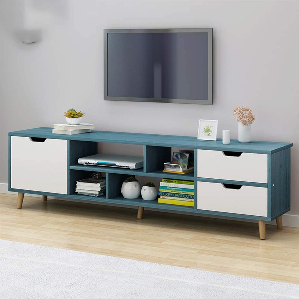 Daguo European Style Modern Coffee Table Television Stands Living Room Tv Stand With Three Cabinet Storage Furniture Meuble Tv Table Blue Home Kitchen