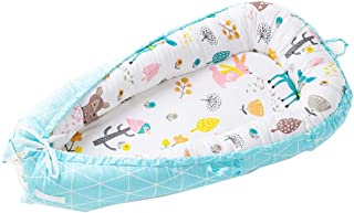 USTIDE Baby Bassinet for Bed,Fox Patterned Baby Nest Pod,Portable Baby Cot Bed,100/% Cotton Breathable /& Hypoallergenic,Great for Sleeping and Traveling