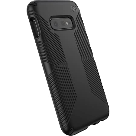 Speck Presidio Grip Samsung Galaxy S10E Case, Black/Black (124578-1050)