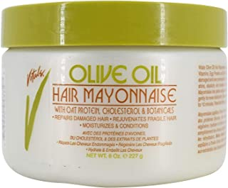 Vitale Olive Oil Hair Mayonnaise 8oz with Oat & Egg Protein and Vitamins - Good on Color & Thermal Treated Hair - for Dry & Damaged Scalp Men, Women & Kids - Moisturize and Condition