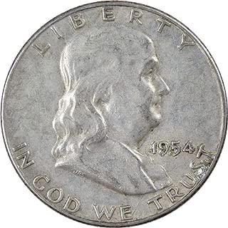 1954 S 50c Franklin Silver Half Dollar US Coin VF Very Fine