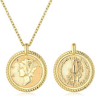 italian gold coin pendant
