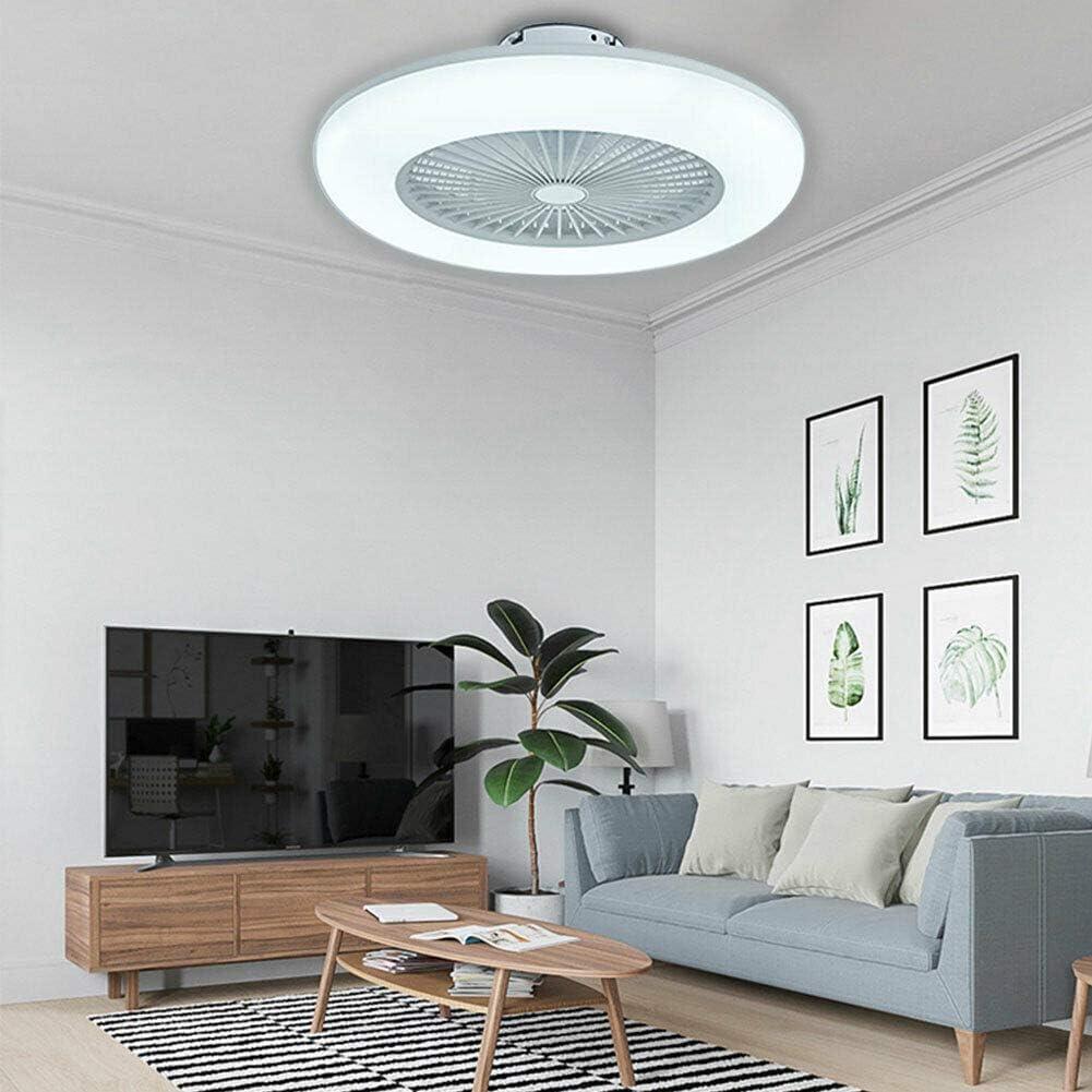 Kaibrite Ventilador de techo LED de 55 cm con iluminación, luz diurna, lámpara de techo con cambio de color con mando a distancia, velocidad del viento ajustable, lámpara de techo