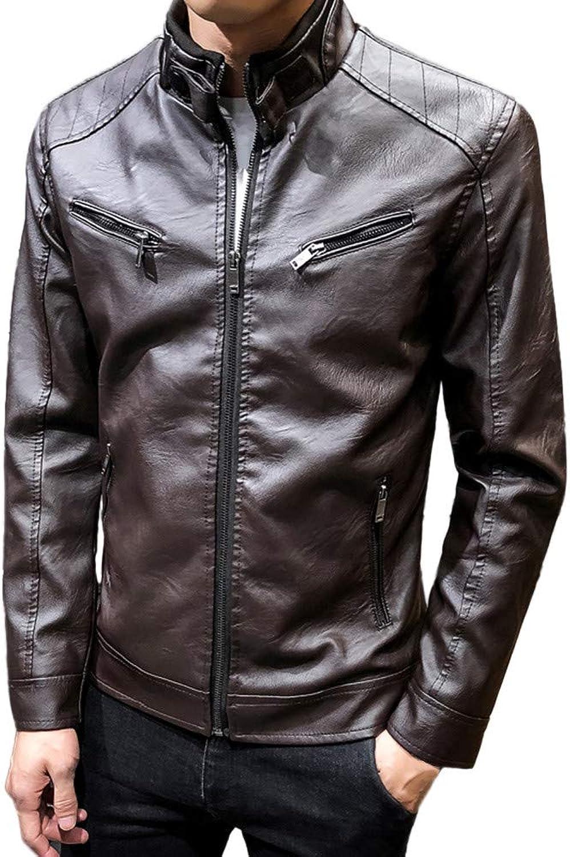 Mens Overcoat,Men's Motorcycle Jacket Leisure Material Jacket Winter Coat,Winter Clothes for Men