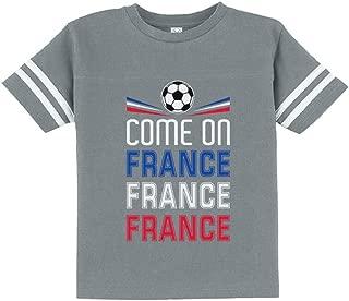 Tstars - Come On France - Soccer Fans Toddler Jersey T-Shirt