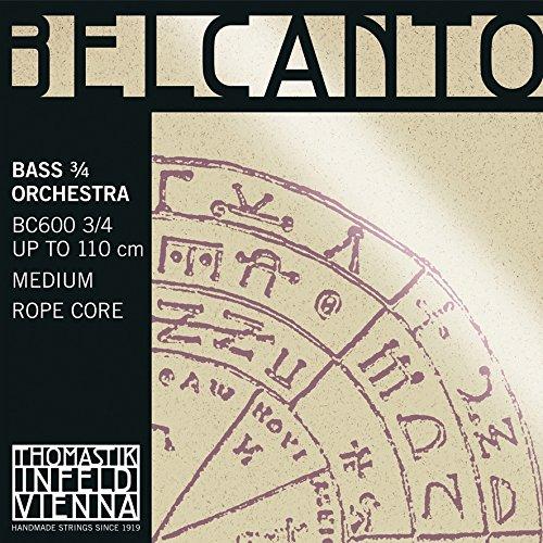 Thomastik Cuerda para Contrabajo 3/4 Belcanto Sol, Afinación Orquesta, Medio, Núcleo de Cable de Acero, Entorchado Cromo