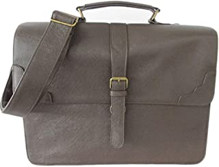 Men Smart Satchel Leather Business Briefcase Multi-Functional Casual Fashion Travel (Color : Gray, Size : S)