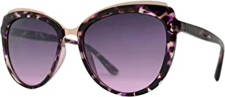 Fashion Eyelinks - Round Oval Cateye Sunglasses for Women, UV Protection