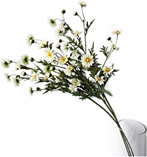 Suandsu 3 Bouquet Artificial Daisy Chamomile Fake Silk Marguerites Flowers Home Hotel Office Garden Craft Art Decor Long S...