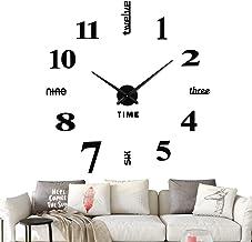 VREAONE Frameless DIY Wall Clock,Large Modern 3D Mirror Wall Clock Decor Sticker DIY..