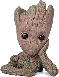 DKX Galaxy Guard 2, Flower Pot Tree Person Baby Gruitt, Pen Holder Doll Model Toy Display (Color : Natural)
