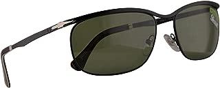 Persol 2458-S Key West Sunglasses Demi Gloss Black w/Polarized Green 62mm Lens 1078P1 PO 2458S PO2458S PO2458-S