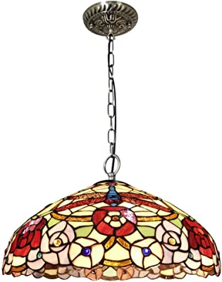 Amazon.com: Tiffany Style Chandelier Lamp 3 Light, Single ...