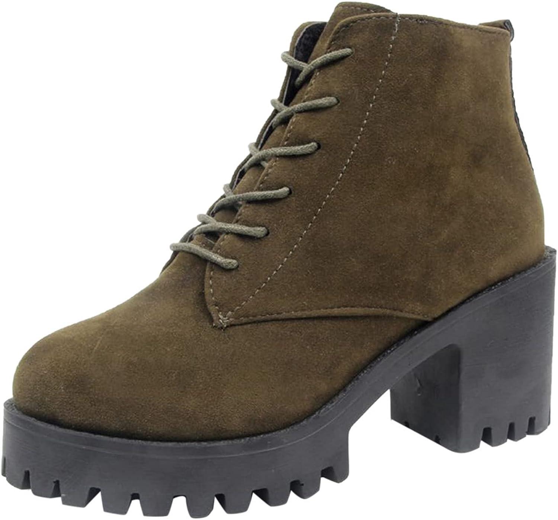 USYFAKGH Women Autumn Winter Ankle Boots Short Shoes Snow Boots