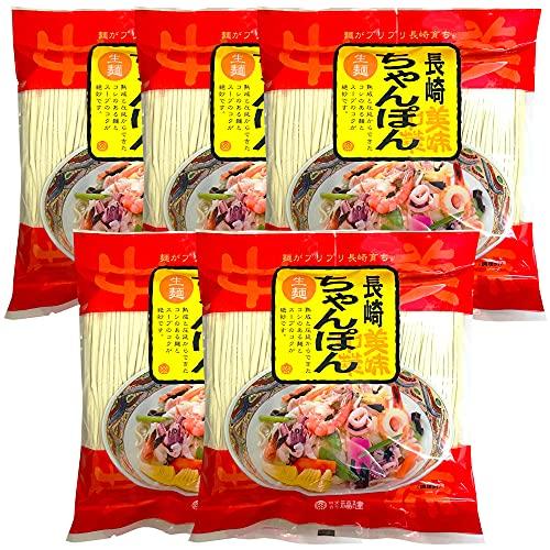 本場長崎新地中華街の長崎ちゃんぽん 自家製生麺+自家製粉末スープ 10人前/10食セット