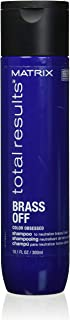 MATRIX Total Results Brass Off Color Depositing Blue Shampoo | Refreshes Hair & Neutralizes Brassy Tones in Lightened Brunettes | For Color Treated Hair