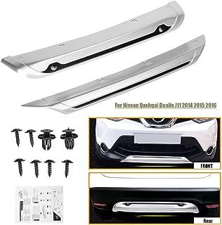 ABS Front+Rear Bumper Board Guard Plate Fender for Nissan Qashqai Dualis J11 2014-16