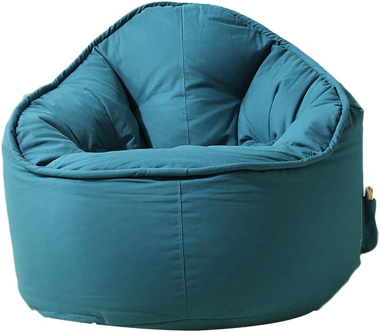 Comfortable Sofa, Lazy Sofa Mini Bean Bag Chair Bedroom Single Sofa Chair (color   Lake bluee)