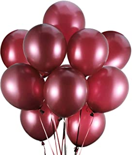 Latex Balloons, 100-Pack, 12-Inch Burgundy(Burgundy)