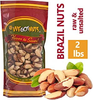 Brazil Nuts - 2 Pounds ,Whole, Shelled, Raw, Natural, No Preservatives Added, Non-GMO, NO PPO, 100 Percent Natural We Got Nuts