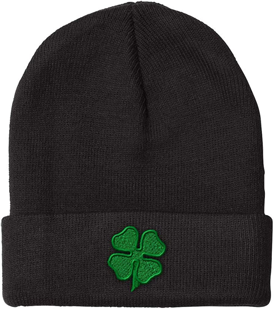 Beanies for Men 4 Leaf Clover Embroidery Winter Acryl Women Miami Mall Popular popular Hats