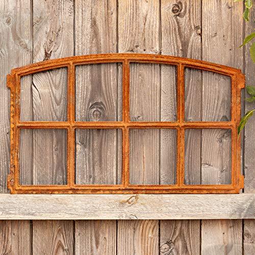 Antikas - Gartenmauer Fenster für 8 Scheiben, Spiegelfenster, Eisenfenster Stall 47,5x78