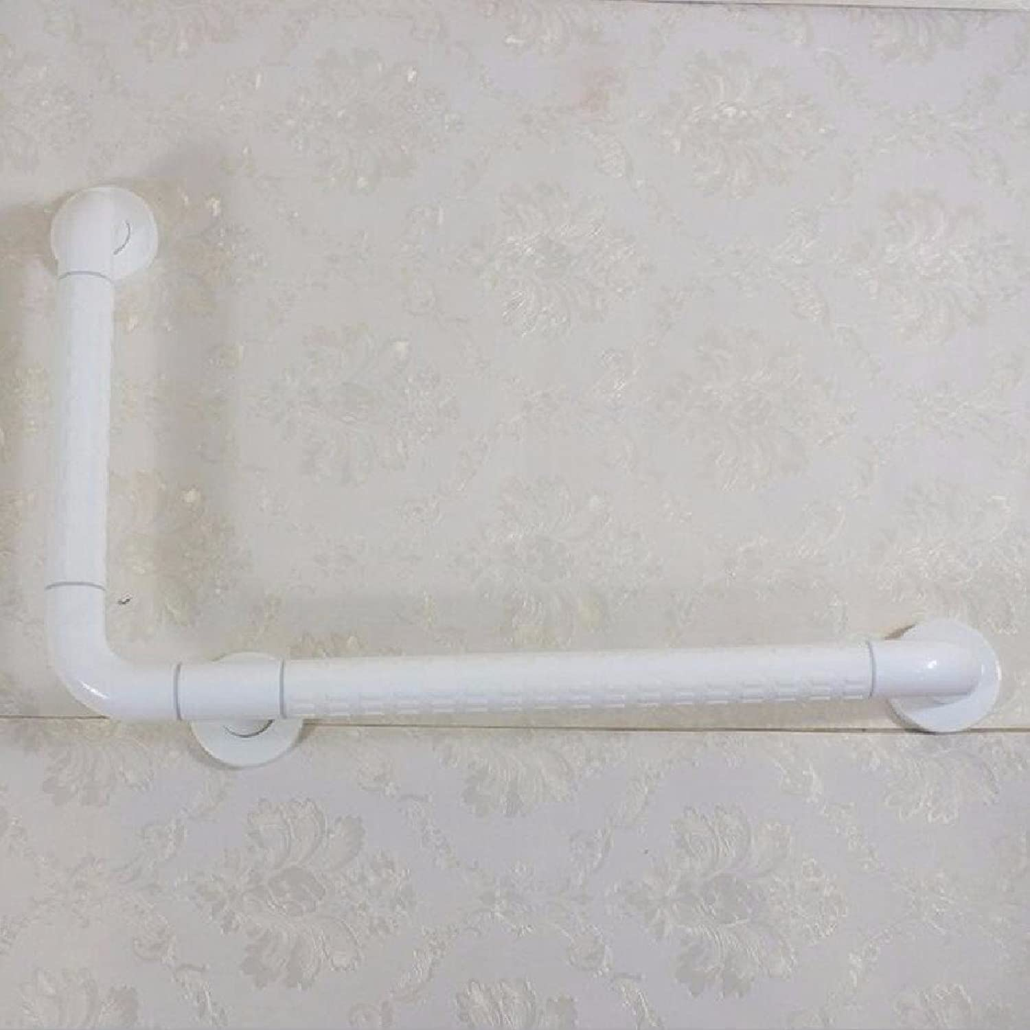 HQLCX Handrail Barrier Free Bathroom Disabled Elderly L Type Auxiliary Handrails,White