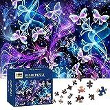 Puzzles,Rompecabezas De Colores 1000 Piezas Adultos,Rompecabezas Desafiantes para Adultos,Rompecabezas De Cartón,Rompecabezas De Colores para Adultos,Puzzles para Adultos (Mariposa)