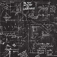 レトロ3D壁紙セメント落書きパーソナライズされたポスター英語アルファベット黒板ベッドルームリビングルームキッチンベッドサイドレストランインターネットカフェ接着剤なし0.53 * 9.5m