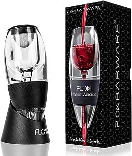 Flow Wine Aerator med ställ, sedimentfilter och förvaringsväska. Handhållen rödvinsförstärkare hälla presentset för vinäls...
