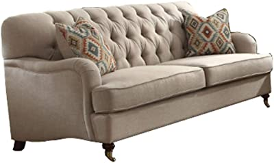 Amazon.com: Picket House Furnishings Twine Sofa with Pillows ...