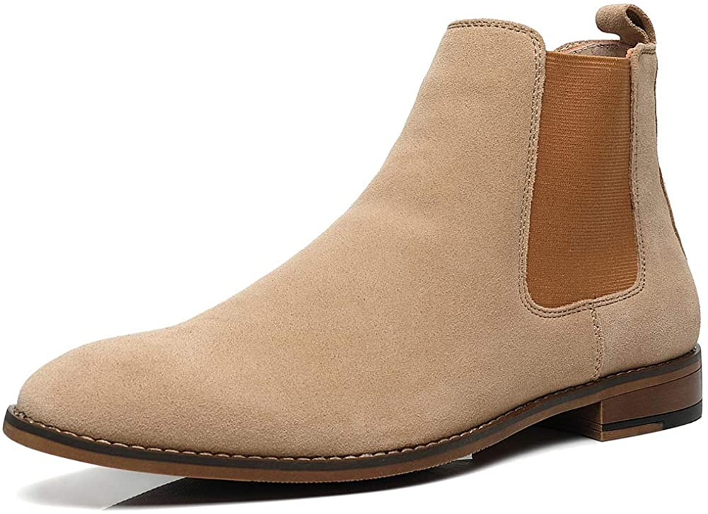 Chelsea Slip-on Suede Boots New color For Men Dress Leather Genuine ! Super beauty product restock quality top!