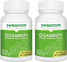 Cow Urine Capsule - Goamrut Capsule Pack of 60 (Min. 2 pack) - GMP Certified - Ayurvedic Proprietary Medicine - Herbal Supplement - General tonic - Immunity Enhancer - Vaat - Pit - Kaf - Gomutra Capsu