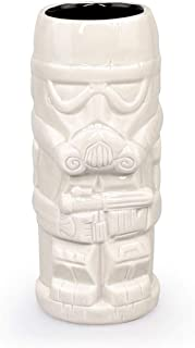 ThinkGeek Geeki Tikis Star Wars Stormtrooper Mug | Official Star Wars Collectible Tiki Style Ceramic Cup | Holds 14 Ounces