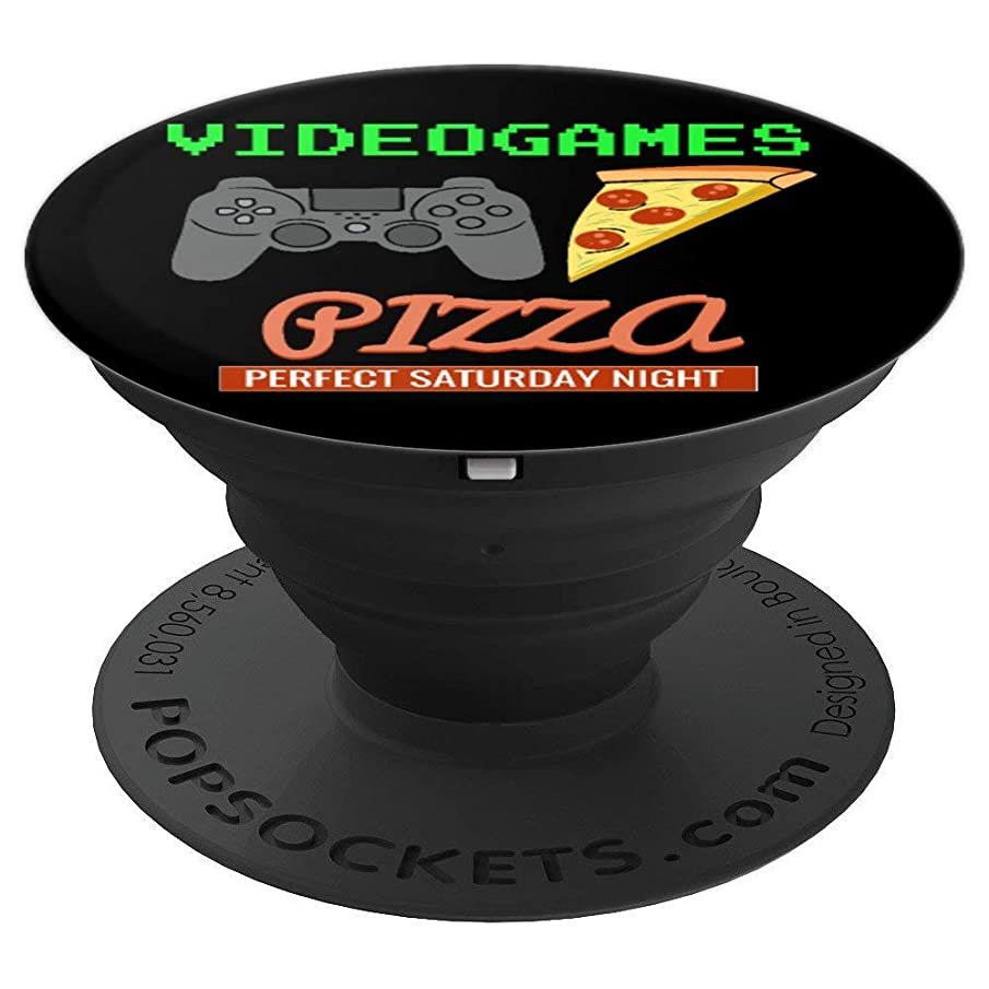 Video Games Pizza Lover Gamer Gift - PopSockets Grip and Stand for Phones and Tablets