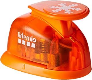 Para diestros y zurdos Fiskars Perforadora de figuras Copo de nieve S Blanco//Naranja /Ø 1,9 cm Acero de calidad//Pl/ástico 1004642 Lever Punch