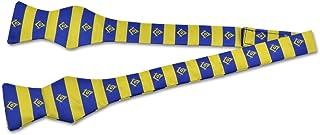 Square & Compass Blue & Gold Masonic Bow Tie