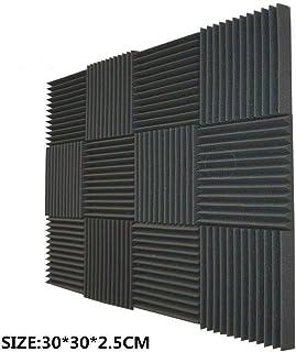 Acoustic Panels, Studio Foam, Sound Proof Panels, Noise Dampening Foam, Studio Music Equipment Acoustical Treatments Foam - 12/24/36Pack (24pcs, black)