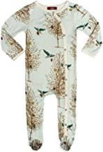 Milkbarn Bamboo Footed Romper, (Christmas Birds, 12-18 Months)