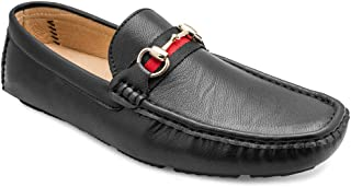 tresmode Men's Black Moccasins