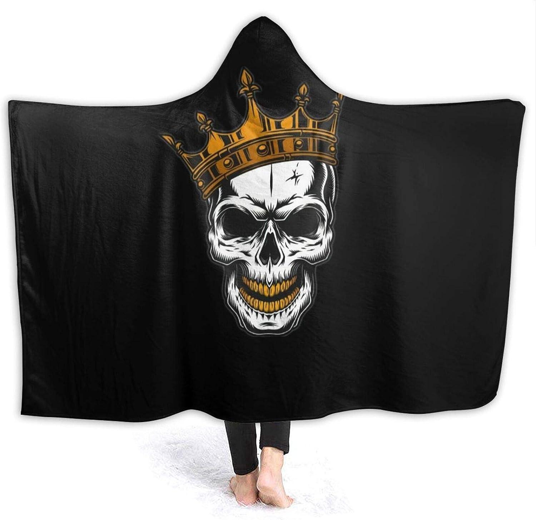 AIBILEEN Skull with A Crown Blanket Wearable お気に入 Hooded Blank Hoodie お買い得品