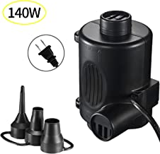 camebust Electric Inflatable Pump Inflate/Deflate AC 120V Quick-Fill with Three Nozzles for Air Mattresses,Pool Toys Beds Mattresses Raft Boat Floats (Black)