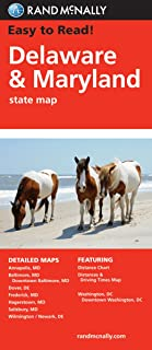Rand McNally Easy To Read: Delaware, Maryland State Map