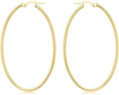 Carrisima Gold - Orecchini a cerchio da donna in oro giallo 9 carati