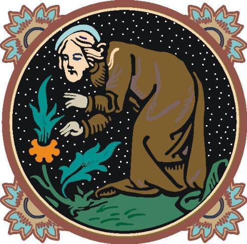 PEMA INDIGOS UG - Wandtattoo Wandsticker Wandaufkleber Aufkleber bunt farbig MF111 Alter Mönch Bier Garten Tribal Ornament 120 x 116 cm