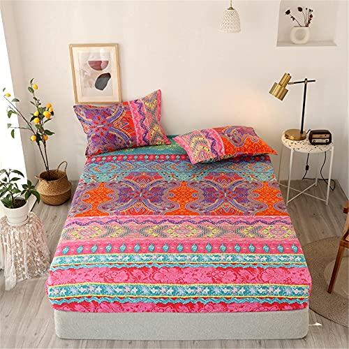 Home - Funda de colchón para cama de matrimonio (3 unidades, tamaño ZLCL002, tamaño: 90 x 200 x 30 cm)