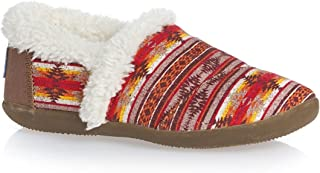 Toms Youth Slipper, Brown Twill Sunset Stripe