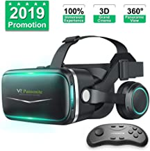 Pansonite Vr Headset with Remote Controller[New Version], 3D Glasses Virtual Reality Headset for VR Games & 3D Movies, Eye...