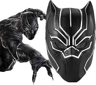 Black Panther Masks, Super Hero Cosplay Halloween Mask Latex Fancy Captain America War Helmet