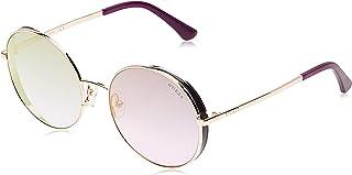 Guess Round Sunglasses for Women - Blue Lens, GU7606-28X-57